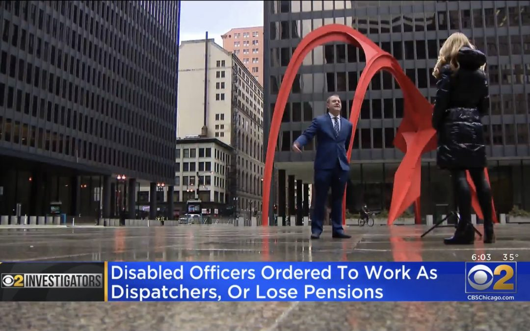 Brent Eames Interviewed on CBS Chicago News regarding North Chicago Disabled Officer Recall